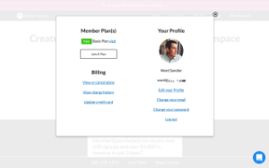 MemberSpace screenshot