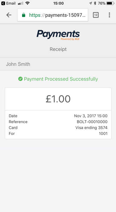 Pay with Bolt screenshot 1