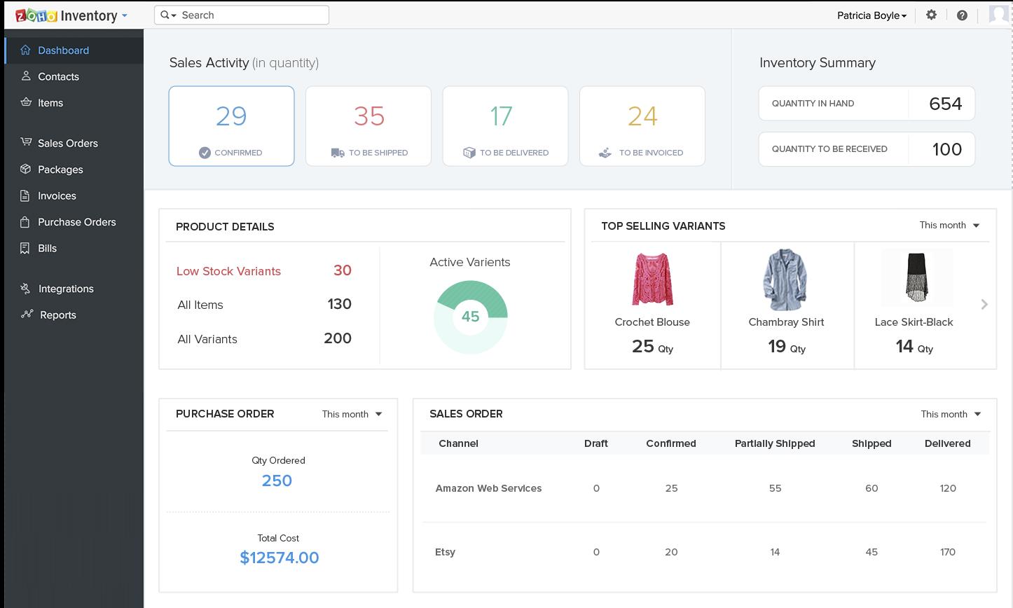 Zoho Inventory screenshot 0