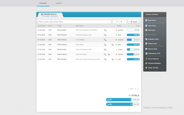 Invoicebus screenshot 1