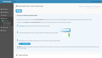 Sentry Login screenshot