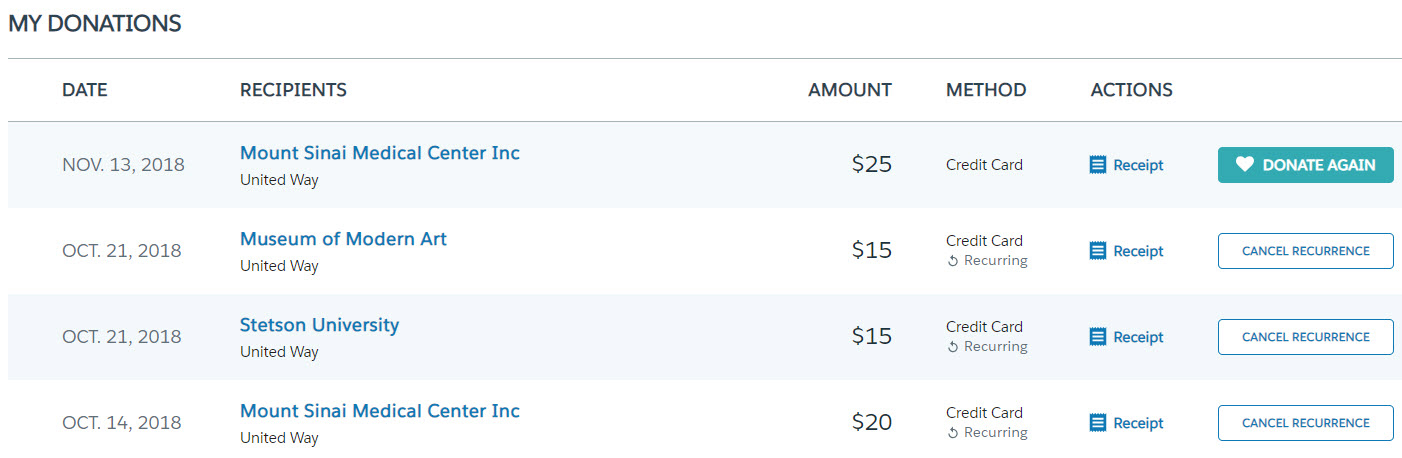 Salesforce.org Philanthropy Cloud screenshot 1