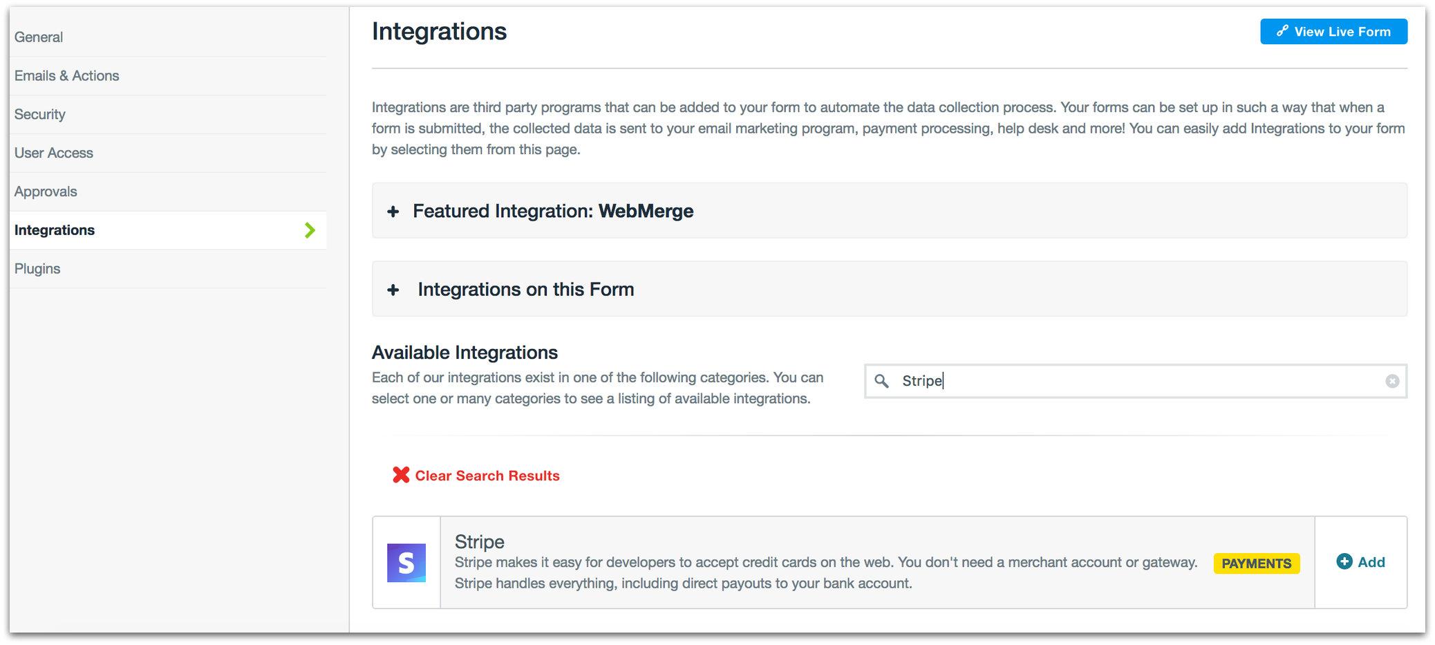 Formstack screenshot 1