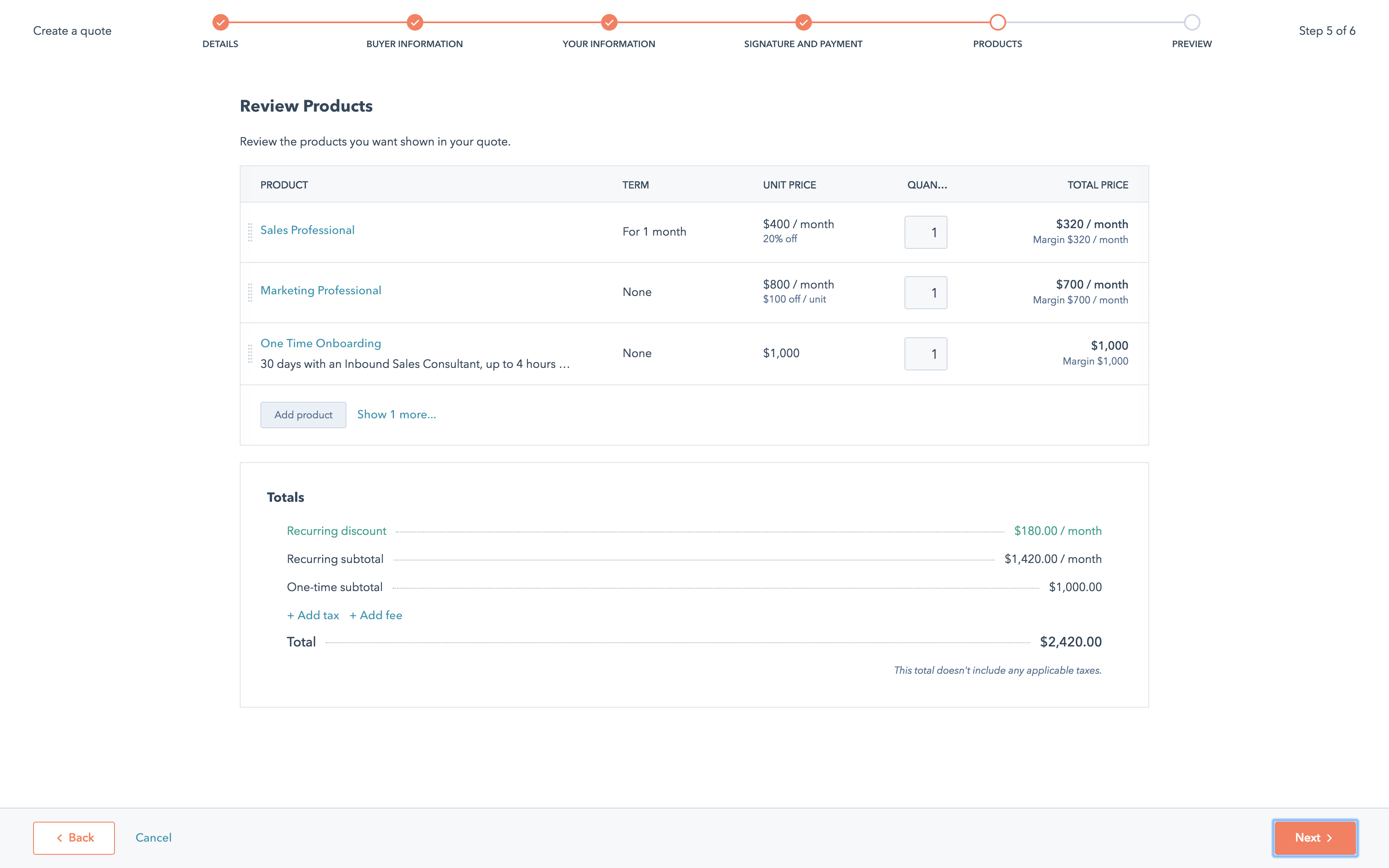 HubSpot screenshot 0