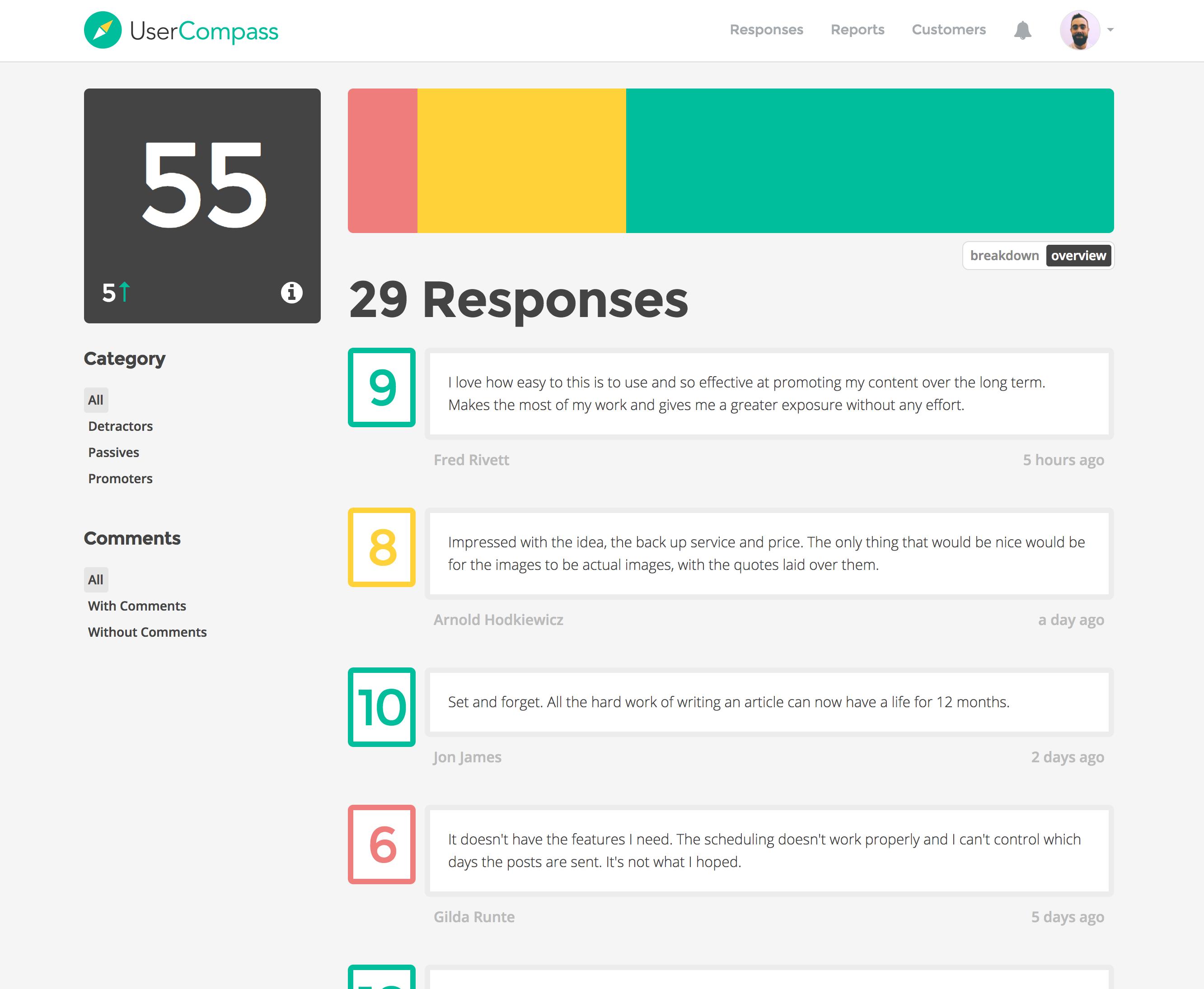 UserCompass screenshot 2