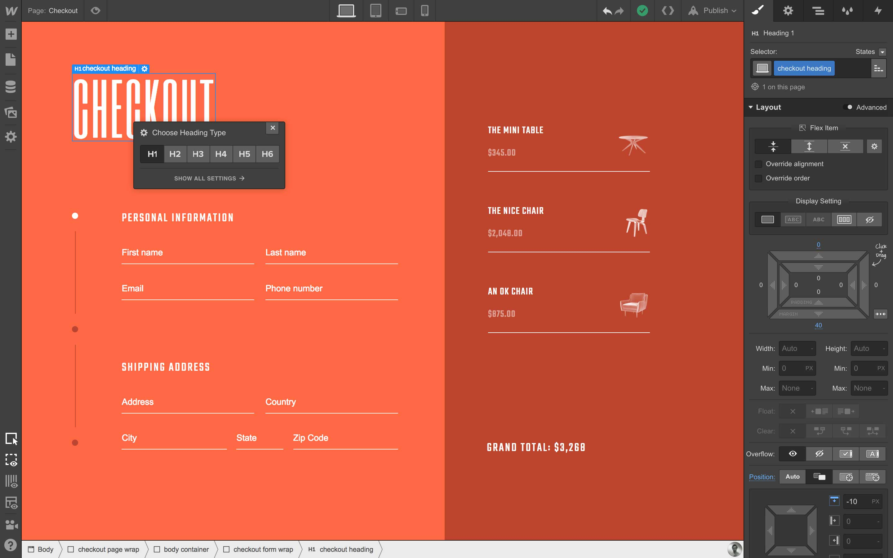 Webflow screenshot 0