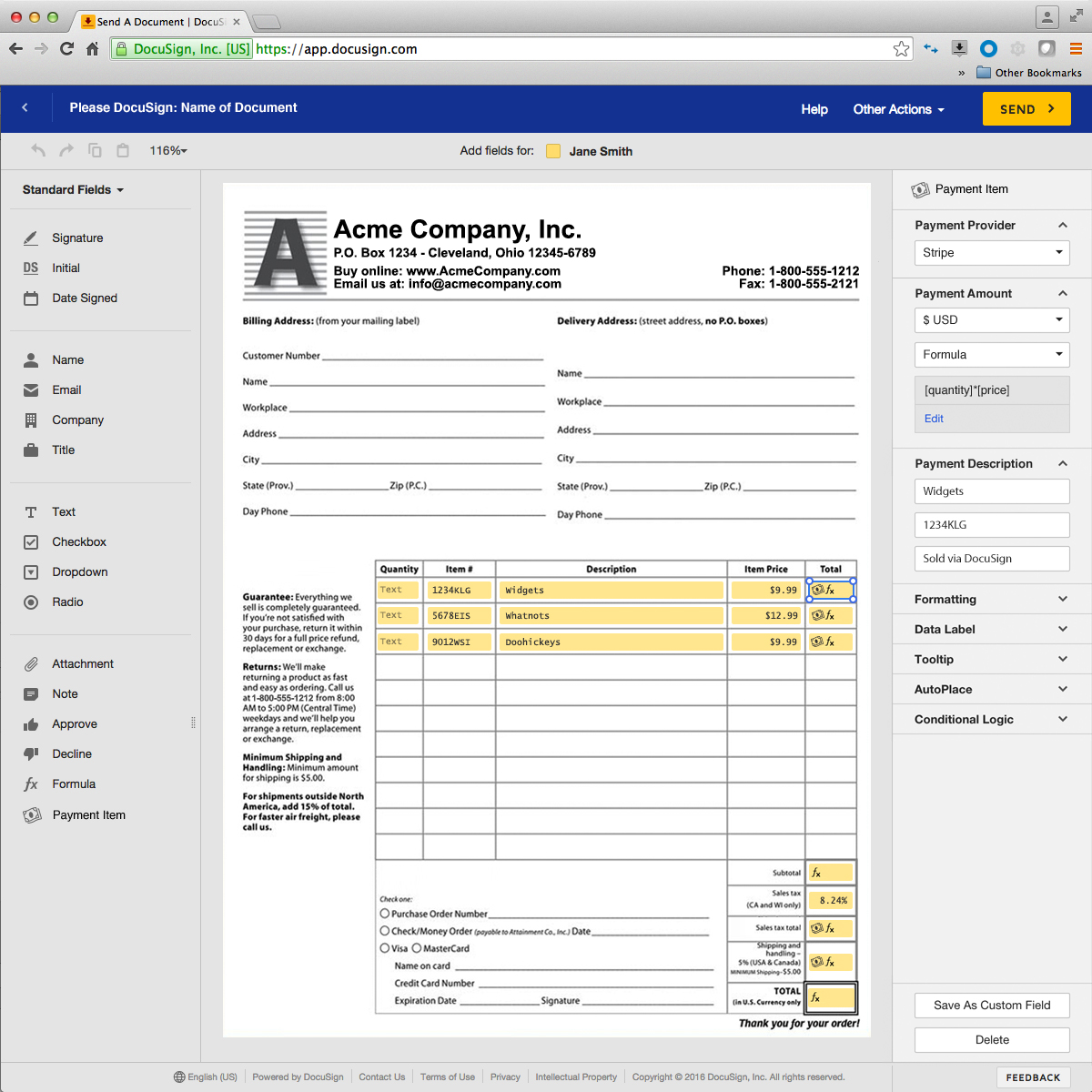 DocuSign screenshot 0