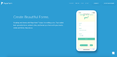 Paperform screenshot