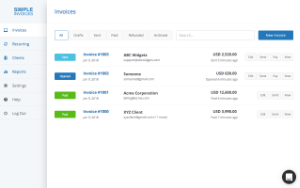 Simple Invoices screenshot