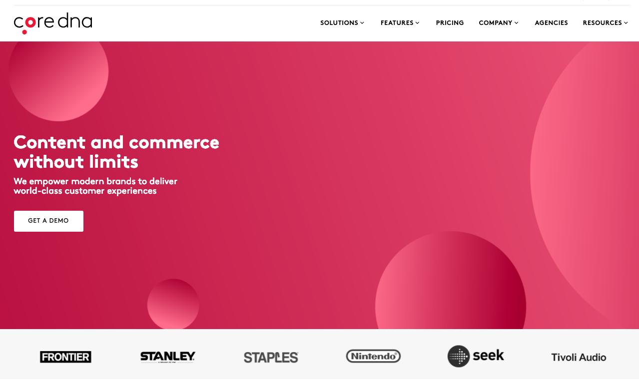 Core dna eCommerce screenshot 1