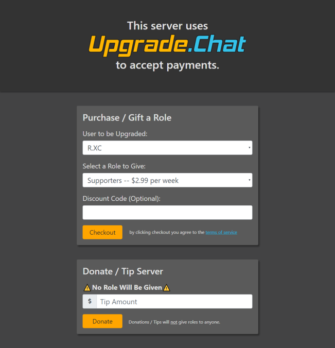 Stripe Partners: Upgrade Chat