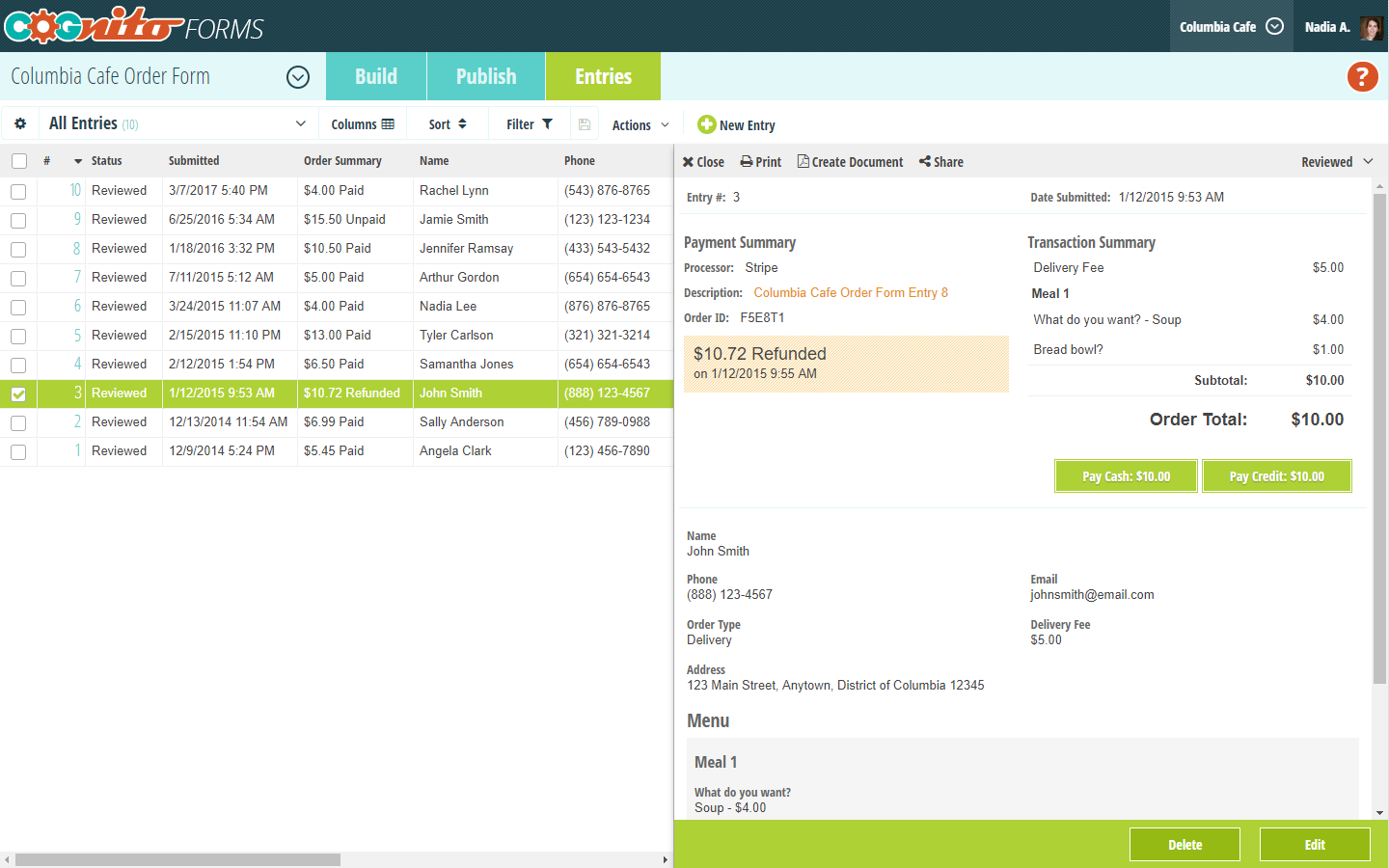 Cognito Forms screenshot 1