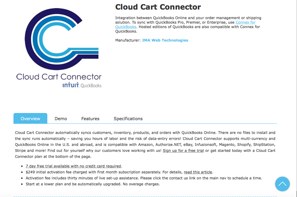 Cloud Cart Connector screenshot 0