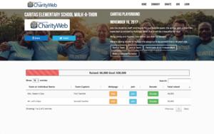 CharityWeb screenshot