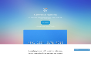 Commence Payments screenshot