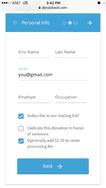Donorbox screenshot