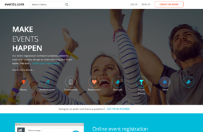 Events.com screenshot