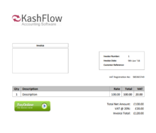 KashFlow screenshot
