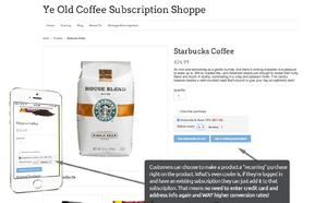 Recurring Orders screenshot